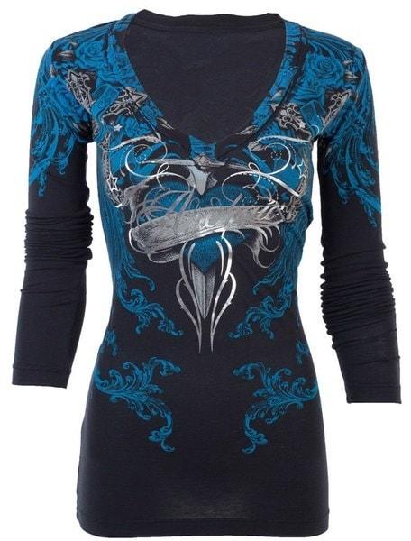 女性レディースファッションプリント長袖チュニックトップTシャツ