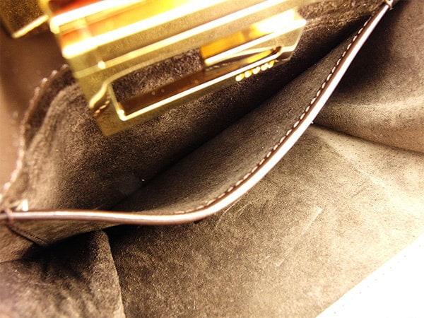 グッチ Gucci ハンドバッグ ミニハンドバッグ ポーチ レディース  G金具 ゴールド×ブラウン スエード 人気 セール 【中古】 T2768 .