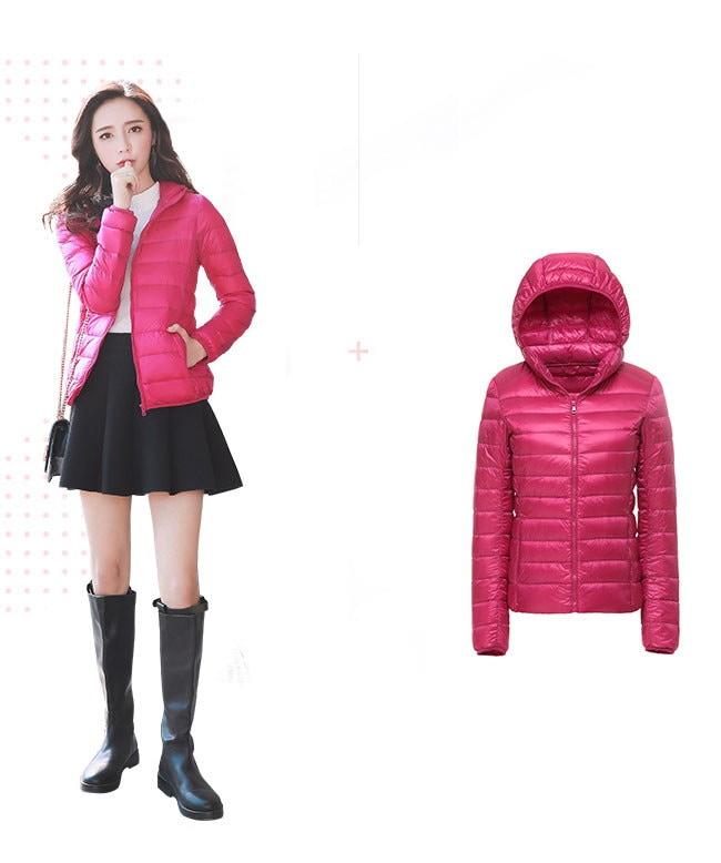 レディース服 女性 大人 冬服 コート アウター ダウンコート ダウンジャケット 軽い ショート丈 インナー 収納しやすい たためるタイプ アウトドア