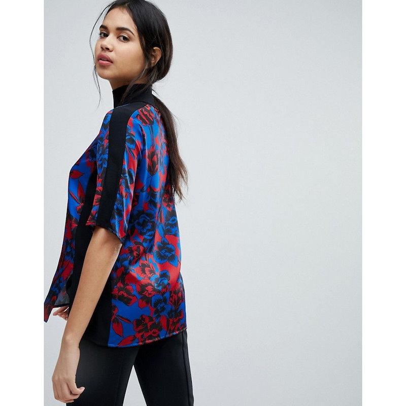 シスレー レディース トップス ブラウス・シャツ【Sisley Floral Print Blouse With Eyelet Detail】Multi