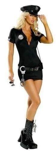 女性の警察コスプレコスチュームドレスセクシーコップ制服セクシーな警察官コスチューム衣装プロムプラスサイズS