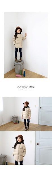 女の子の冬の長いセクションパッド入りのコートダウンジャケットのための韓国ブランド子供服