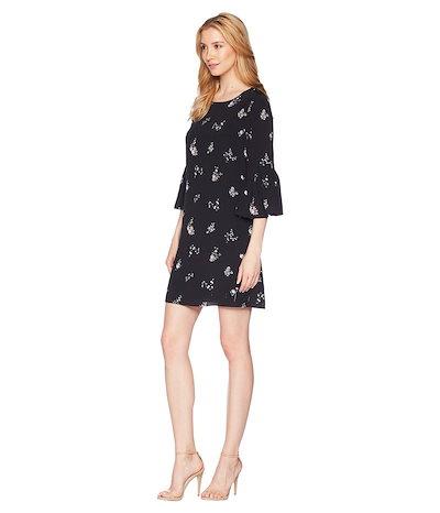 ヴィンスカムート レディース ワンピース トップス Drop Shoulder Ruffle Sleeve Floral Ditsy Dress