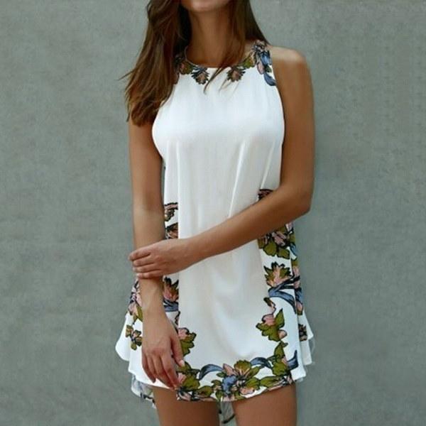 新しいスタイリッシュな女性セクシーなPlaysuitビーチサンドレスノースリーブスリムボディコンポケットミニパッチワークドレス