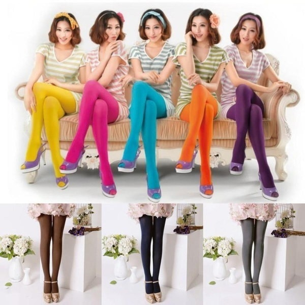 16 Color Brand New Tights Candy Color Leggings Socks Female Tights Stockings 120D Women Pantyhose So
