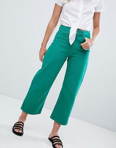 モンキ レディース デニムパンツ ボトムス Monki Wide Leg Jeans