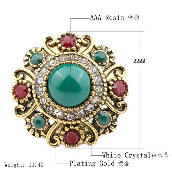 ユニークなヴィンテージファッションボヘミアダイヤモンドクリスタルエレガントジュエリーウェディング宝石婦人のリング