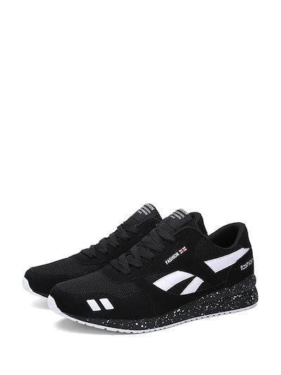Men s Sports Shoes Pointed Toe Lace Up Color Block Casual Cozy Shoes