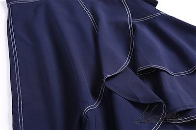半袖 ドレス ミディ丈 アシンメトリー ワンピース スカート カジュアル ボーダー 秋冬新作 デート 20代 30代 40代 お取り寄せ