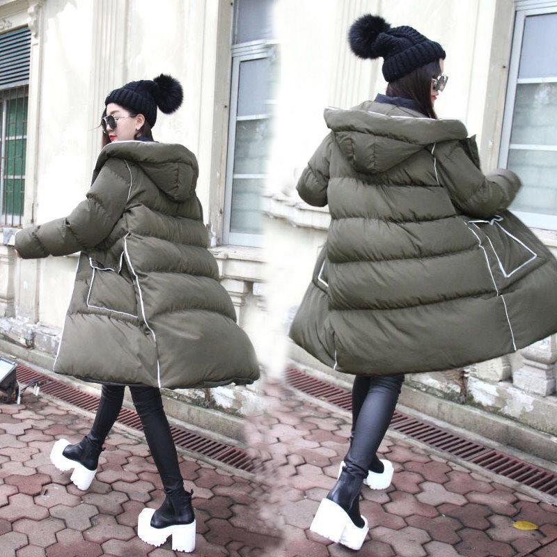 【新作入荷】韓国ファッション冬服最高級モッズコート!軽量!暖かく着用いただける 高品質 ダウン・ジャケット・コート特集/ ホワイトダックダウンをたっぷり詰めた ダウンコートを体感していただけます。バイカラーをアウターでも取り入れて♪ダウンジャケット風ロングアウタ♪レディース ダウン アウター カジュアル