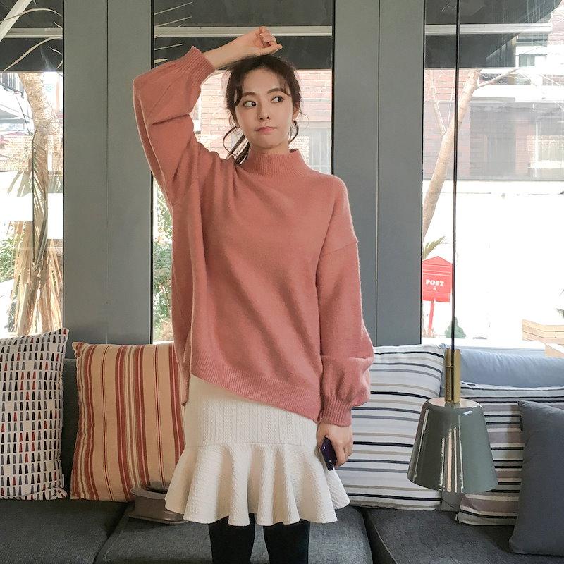 [CHERRYKOKO]ピンクタートルネックニット[2018S/S新作][送料無料]✯韓国ファッション✯C712MSKN64