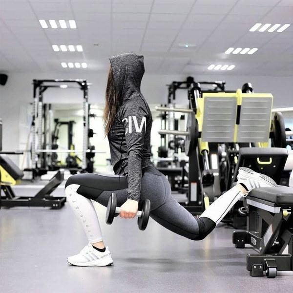 女性スポーツフィットネスカジュアルトップスクイックドライシャツジムヨガロングスリーブティーブラウス