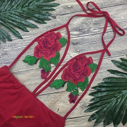 女の子の女の子のワイン赤いバブルデカールグレナディンジャンプスーツ水着ビキニセットPSbk468
