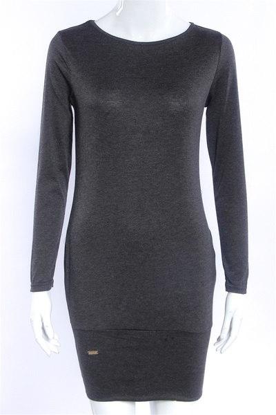 ヨーロッパのファッションロングスリーブカジュアルボトミングワンピースソリッドカラーの秋のパッケージのヒップドレス