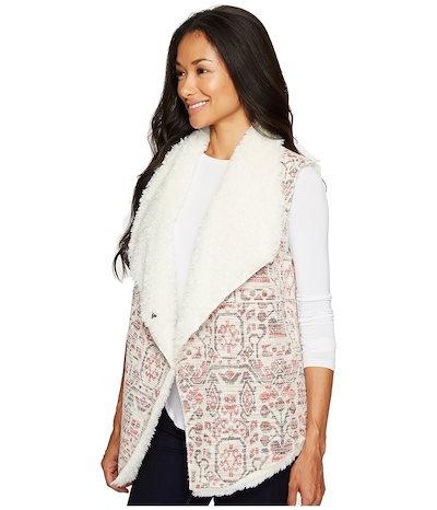 デイランバイトゥルーグリット レディース コート アウター Vintage Jacquard Sherpa Vest