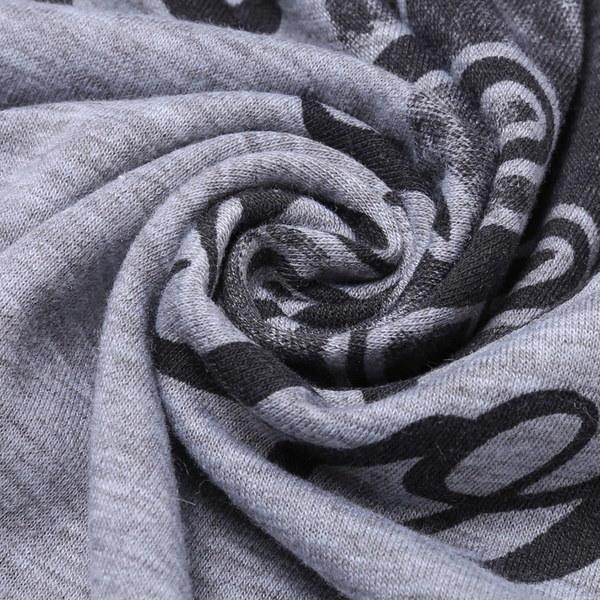 レディースカジュアルポリエステルOネック3/4ラグランスリーブアニマルレタープリントパッチワークTシャツトップス(サイズ:XL