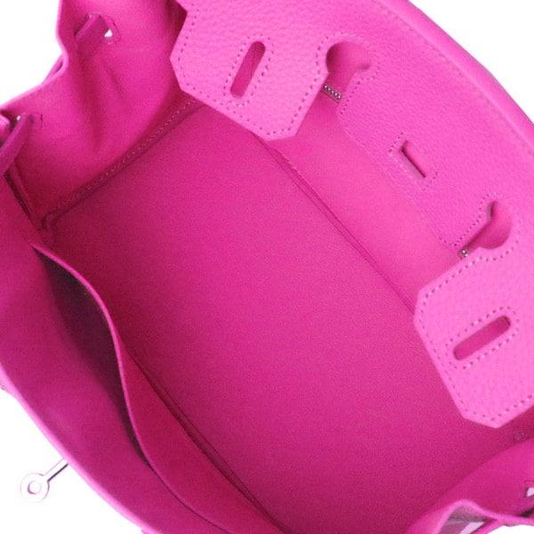 キラキラ デコレーションバッグスワロフスキースマイルレザー ハンドバッグ30SSピンク
