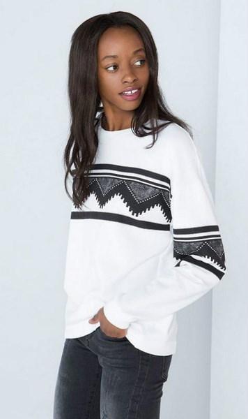 1PCの女性のファッションセクシーなナショナルスタイルの幾何学的なプリントフリース冬と秋の暖かいコートパーカー