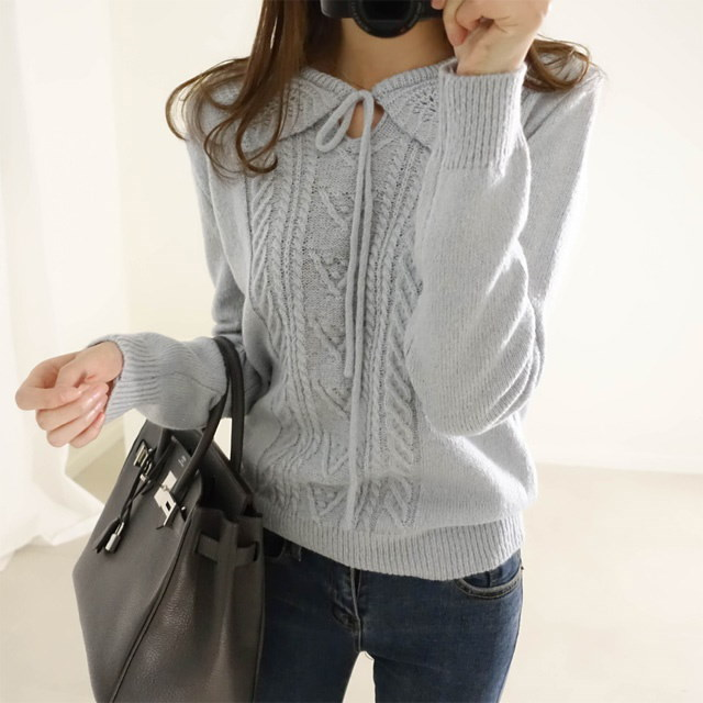 [Deming] 4 color knit lace Netikara