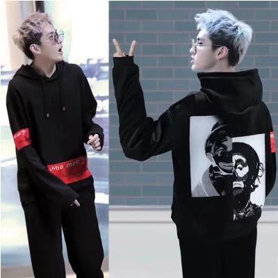 BIGBANG G-DRAGON 長袖 トレーナー パーカー/G-Dragon/bigbangファッション/BIGBANG パーカー/bigbang 服/ビックバン/EXO/HBA/防弾少年団 帽子付