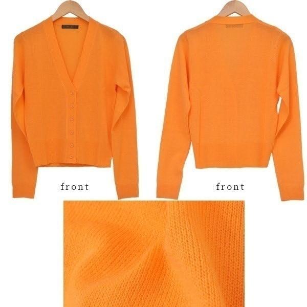 カーディガン カーデ Vネック 大人可愛い 長袖 紫外線 ショート丈 カラバリ豊富 羽織り 無地 レディース