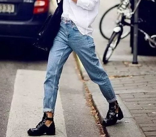 Street Trendy Vintage High Rise Casual Classic Denim Mom Jeans