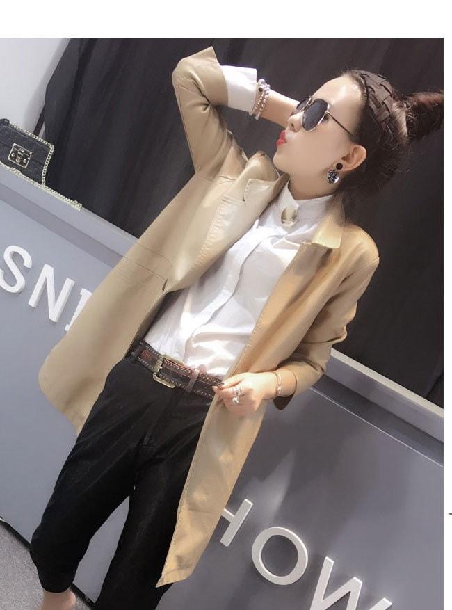 レディースファッション 女性 フェイクレザー 合皮 コート アウター ロング丈 トレンチコート ブラック ベージュ サイドスリット シンプル