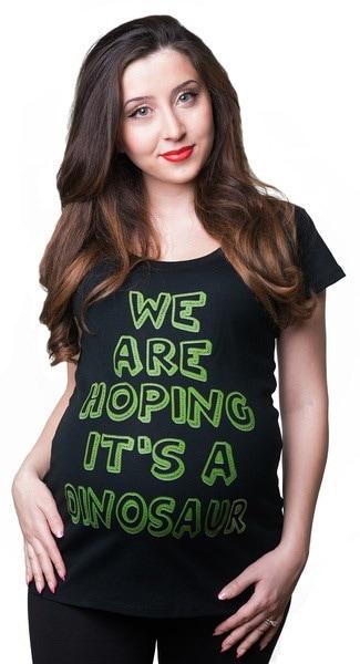 私たちはそれを望んでいるそれは恐竜のTシャツのマタニティTシャツ妊娠中のシャツ妊娠中のTeen Funny Maternity