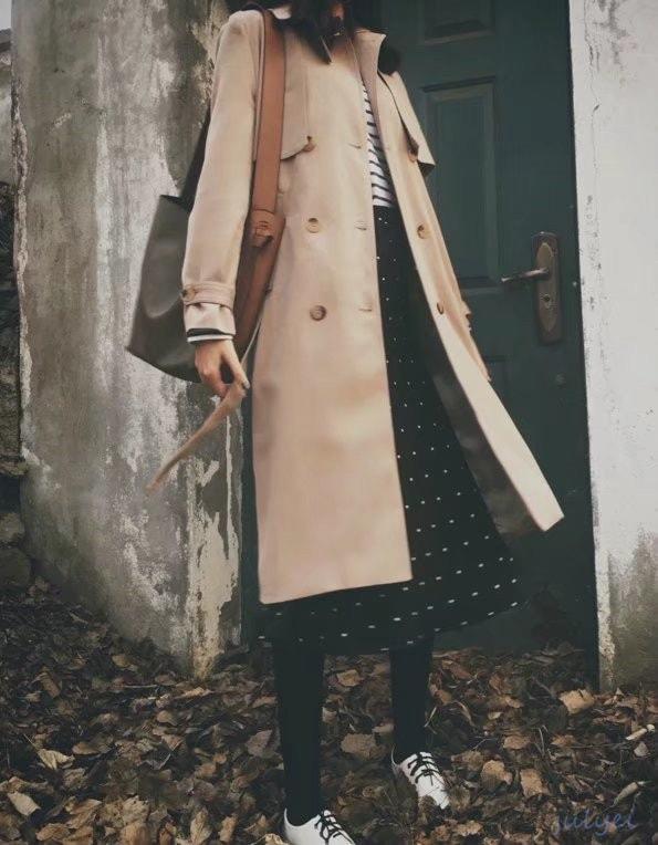 欧米風レディース 気品トレンチコート コート ロング丈 アウター 入学式 卒業式 スーツ ママ レディース おしゃなコート /スプリングコート