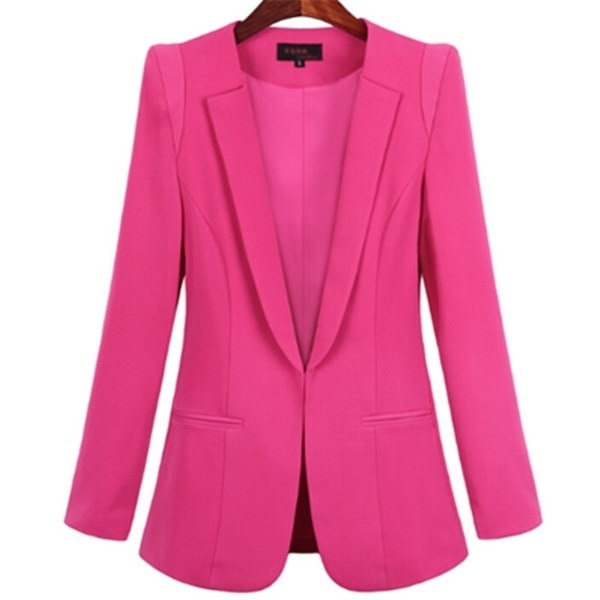 レディースイエローブレザーフェミニノプラスサイズ4XLフォーマルジャケット女性レディースホワイトブロッサーローザ女性ブルーウォーム