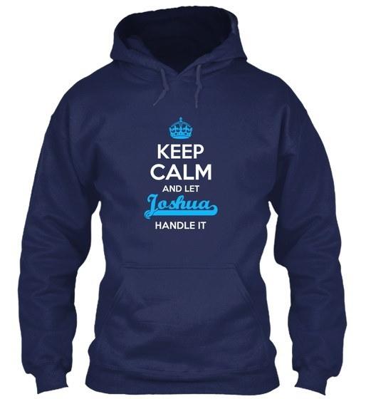 Joshua Keep Calm! Gildan Hoodie Sweatshirt