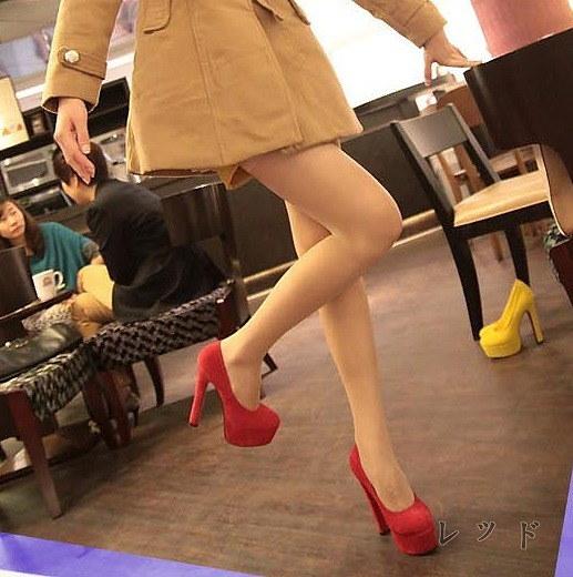レディース靴 パンプス ヒール13cm ストーム4cm ストームパンプス 前厚 厚底  くつ シューズ  美脚  履き心地抜群 シンプル 履きやすい 大人 フェミニン マストアイテム おすすめ スエード ブラック イエロー レッド