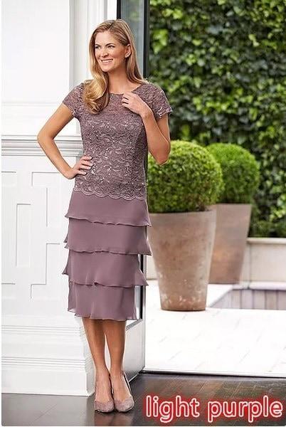 プラスサイズのソリッドカラーファッション女性夏の半袖レースパーティードレスマルチレイヤーマキシドレス