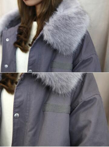 [55555SHOP]レディース モッズコート アウター =裏起毛 モッズコート 中綿あったか ミリタリーモッズコート ファー付き コート