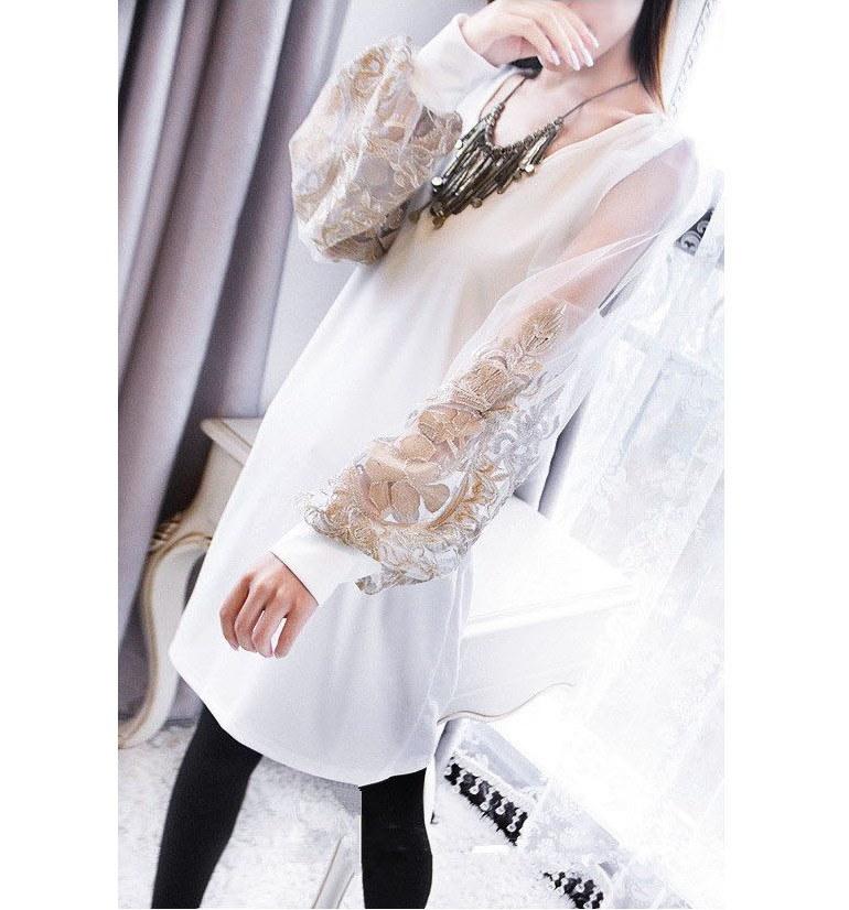 【即日発送】送料164円★美魔女ワンピ♪ホワイト