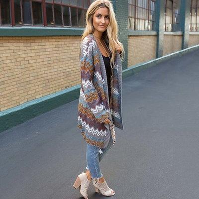 秋冬ファッション服女性のためのカーディガンセーターウィンターコート