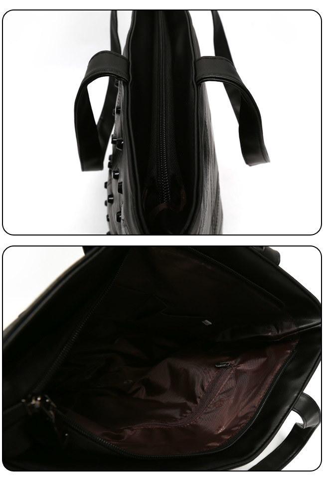 ★送料無料★ロングハンドル スタッズ トートバッグ[レディース] 韓国ファッション ワンピース バッグ リュック パーカー コート アウター カーディガン ハロウィン セットアップ トレーナー