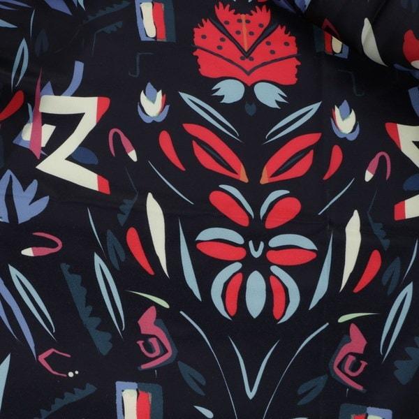 ヴィンテージ3/4スリーブエスニック花柄ショートコートレディース薄手ジャケットアウター