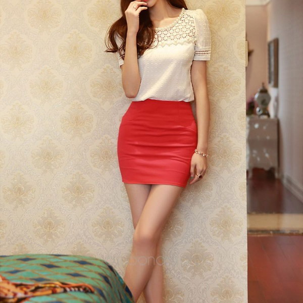 Lady s Fashion Short sleeve Lace Hollow out T shirt Tops