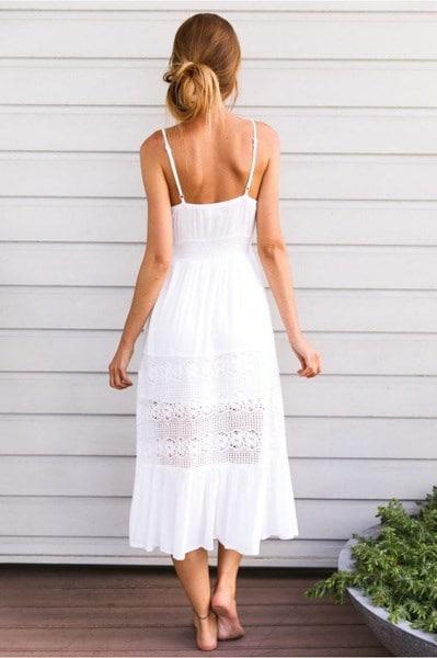 女性の夏のビンテージBohoロングマキシイブニングパーティービーチドレスFloral Sundress