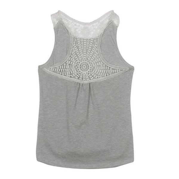 ホットセールレディース夏レースベストトップ半袖ブラウスカジュアルタンクトップTシャツ
