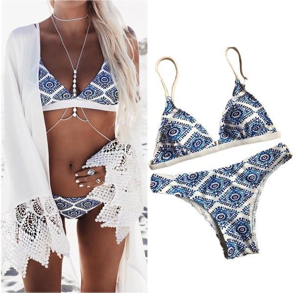 レディースファッションレディビキニカバーレース中空のかぎ針編みの水着水着ビーチドレス
