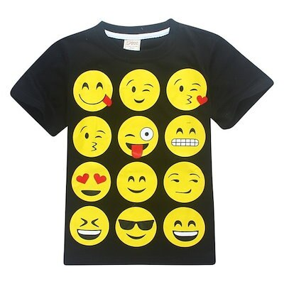 2017 New KIDS EMOJI EMOTICONS SMILEY FACES Teenage Baby Kids Boys Tops T-shirt Summer Short Sleeve C