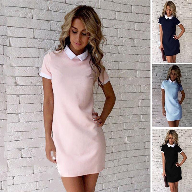 夏のファッション女性の半袖Office Bodyconイブニングパーティーカクテルショートミニドレス
