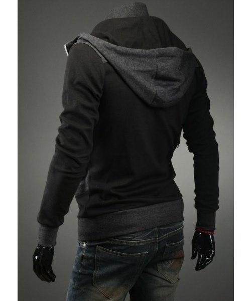 Dark Gray  Slim-Fitting Men s Hooded Jacket