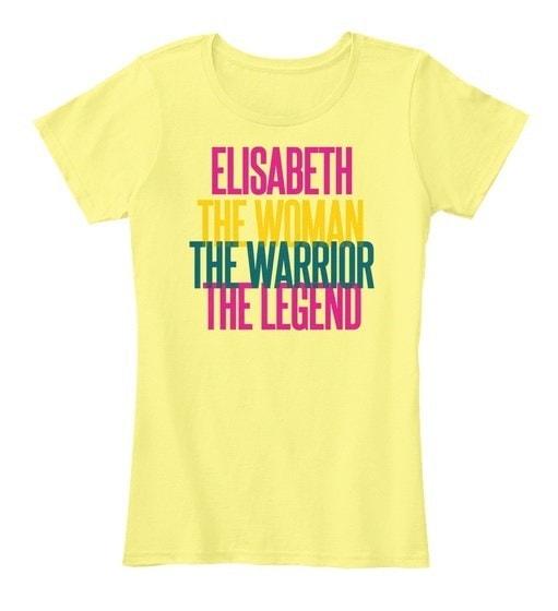 Elisabeth   The Woman The Warrior Women s Premium Tee