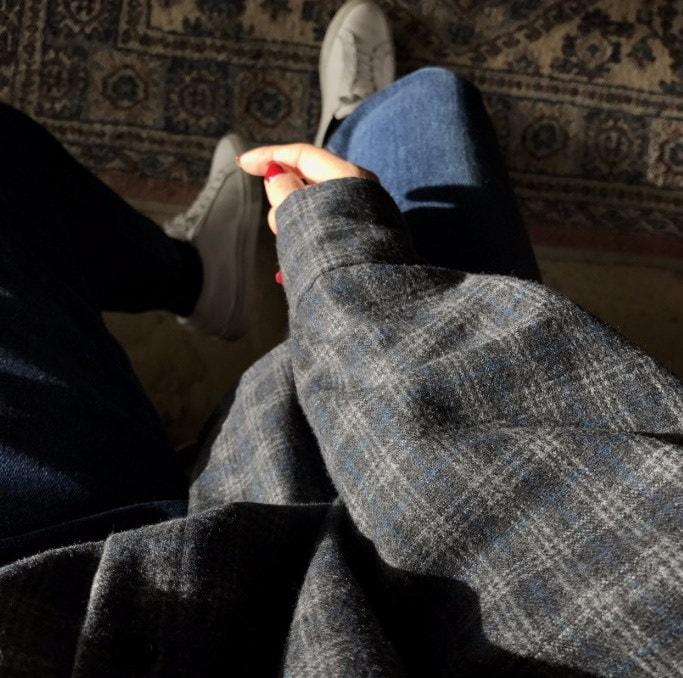 45678(韓国ファッション)大人可愛い♪ ワイルドスクラブ 暖かい厚手のシャツコート チェック柄の長袖 シャツブラウス