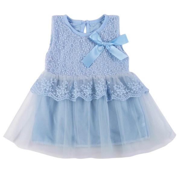 子供の子供の女の子の王女のパーティー結婚式のレースドレスフラワーちょう結びツツースカート