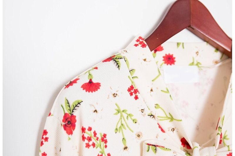 『韓国製』SELLISHOP  花柄 リボン ワンピース「大きいサイズ 大人 韓国 ファッション・結婚式・フォマール 黒 フレア 30代 40代 50代 スレンダー・Aライン,上品・ロング ミセス X