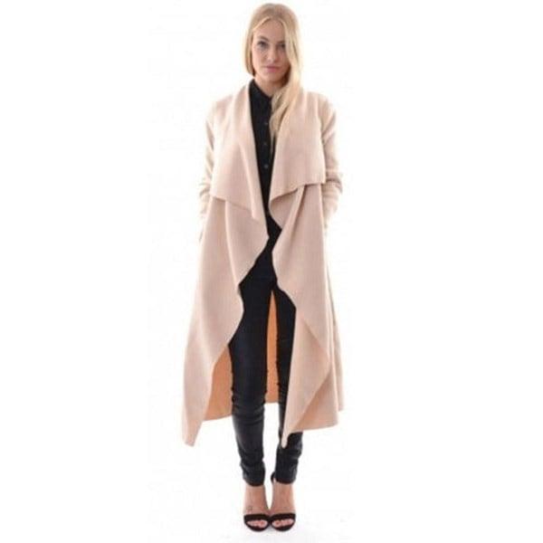 新しいファッション女性のカジュアルターンダウン襟ロングスリーブフロントオープン非対称裾ニットカーディガンO